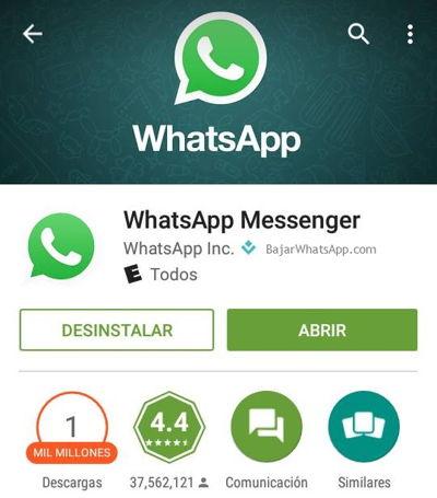 Instalar Whatsapp Abrir